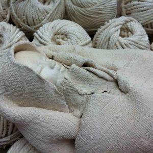 Dormeur blanc (Détail) - terre cuite