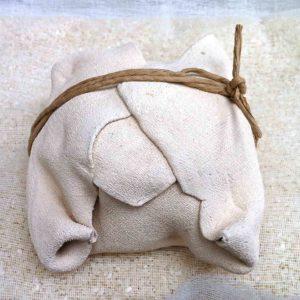 Ballot japonais - terre cuite et ficelle papier 12x12cm