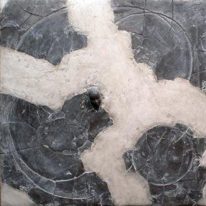 Golfe de la rosée - 2007, plâtre et terre cuite, 80 x 80 cm