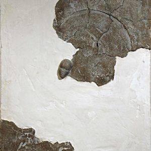 Lac de la perfection -2008, plâtre et terre cuite, 54 x 65 cm