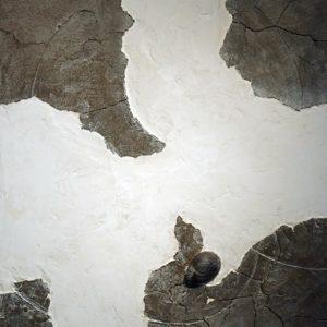 Lac du printemps - 2008, plâtre et terre cuite, 54 x 65 cm