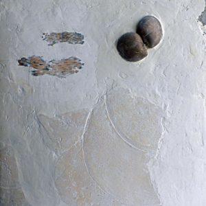 Lad de la tendresse - 2007, plâtre et terre cuite, 54 x 65 cm