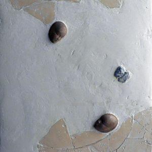 Mer du Nectar - 2007, plâtre et terre cuite, 54 x 65 cm