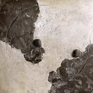 Mer des nuées - 2007, plâtre et terre cuite, 63 x 64 cm