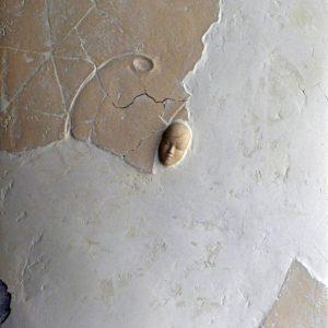 Mer du silence - 2007, plâtre et terre cuite, 54 x 65 cm