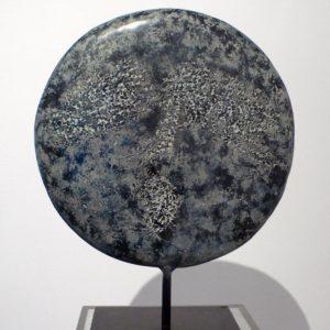 Messagère nocturne - 2004, bronze, diam. 40 cm